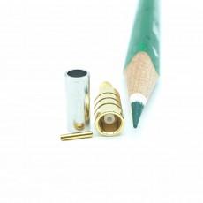 MCX(F)암컷 50옴 RG-316 Crimp Connector(Gold)