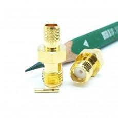 SMA(F)S/T 암컷 RG-400 Crimp Connector(Gold)