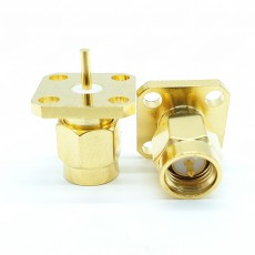 SMA Male암컷4Hole Flange Connector 5mm