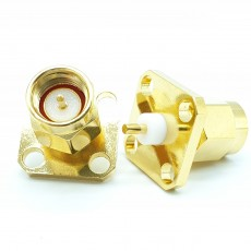 SMA(M)수컷 4Hole Flange Connector-2-3mm(Nickel)