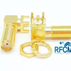 SMA(F) RA 4R PCB(L: 17.2mm 4R깊이: 2.8mm)