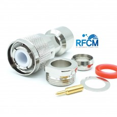 HN Male Connector Clamp/Solder RG393