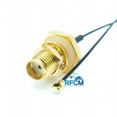 SMA(F)BH방수형-MHF4 PIug 30mm Cable Assembly(Gold)