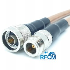 N(M)수컷-N(F)수컷 RG393 1m Cable Assembly-50옴