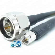 N(M)수컷-SMA(M)수컷 HF300(LMR300) 1m Cable Assembly-50옴