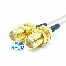 SMA(F)BH암컷-SMA(F)BH암컷 RG-178B/U Cable Assembly 50옴