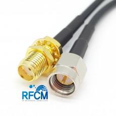 SMA(M)수컷-SMA(F)BH암컷 RG-174 Cable Assembly 50옴