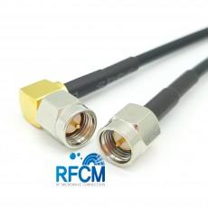 SMA(M)수컷-SMA(M)RA수컷 RG-174 Cable Assembly 50옴