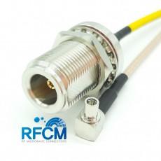 N(F)BH to KMS530(M)R/A RG316/S Cable Assembly 50옴