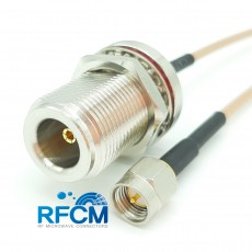 N(F)BH to SMA(M) RG316/S Cable Assembly 50옴